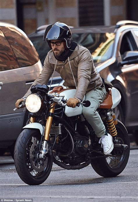 Ducati Motorrad Jeans by Ryan Reynolds Looks Stylish In Leather Jacket And Cargo