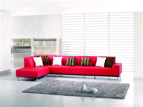 modern red leather sectional 3 pieces modern red leather match sectional sofa with left