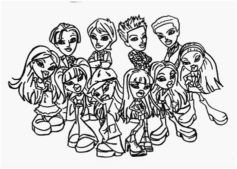 free coloring pages free bratz coloring pages 2016