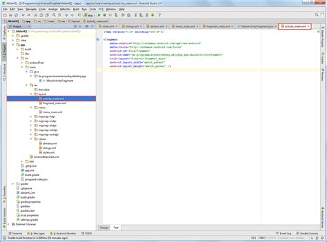 android studio project layout android tutorial neues android studio projekt erstellen