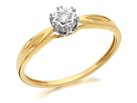 9ct gold solitaire ring d5003 f hinds jewellers