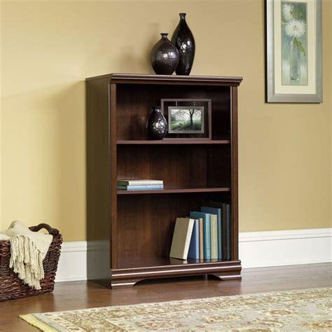 Sauder 3 Shelf Bookcase Sauder Carolina Estate 3 Shelf Select Cherry Bookcase Ebay