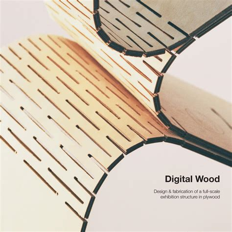 design competition for innovative wood joint system digital wood design fabrication of a full scale