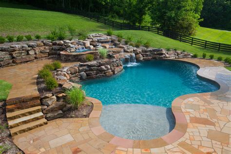 pool waterfall problemcustom pool builder questions concrete pool image gallery