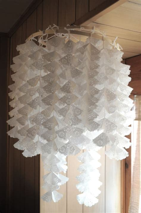 Doily Chandelier Doily Chandelier Weddingbee Photo Gallery