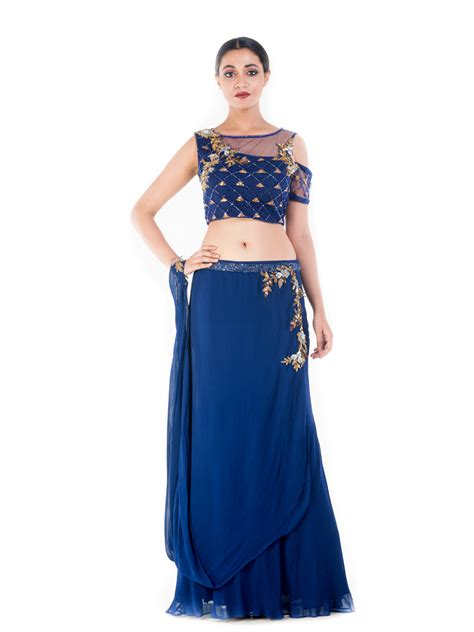 Blue Set Top Skirt Import buy smriti apparels skirtset royal blue and gold