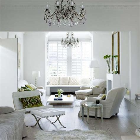 white tranquil living room modern white interiors