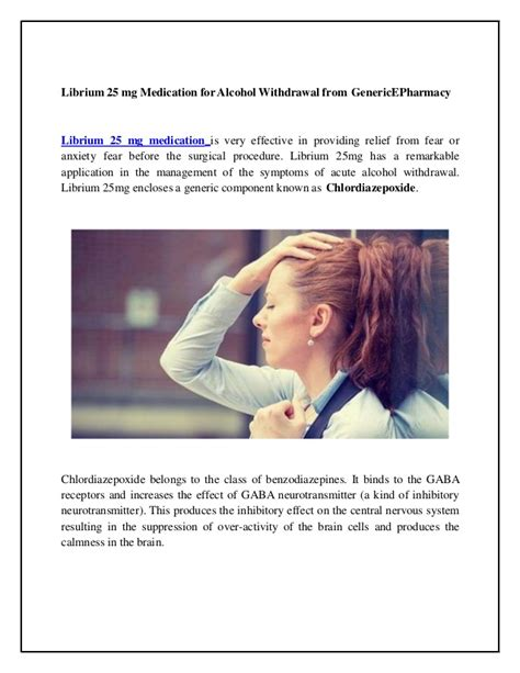 Chlordiazepoxide For Detox by Buy Librium 25 Mg Genericepharmacy For Withdrawal