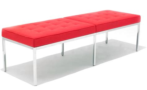 knoll bench knoll three seat bench hivemodern com
