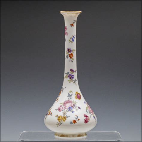 Opaline Glass Vase by Large Opaline Glass Vase With Painted Flowers From Oh