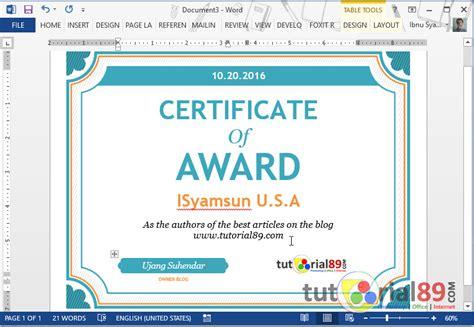 cara membuat watermark untuk sertifikat cara praktis membuat piagam penghargaan di ms word