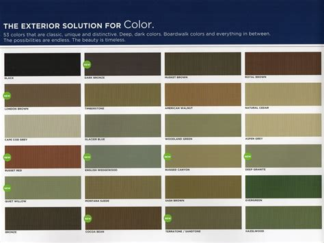 inspirations siding colors mastic vinyl siding color chart