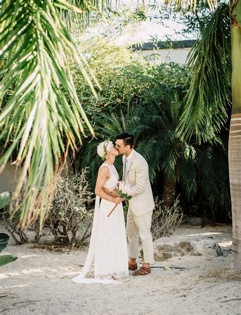 simple wedding in california easy breezy baja california surfer wedding strapless wedding dresses
