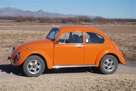 orange volkswagen beetle 1968 volkswagen beetle vw bug orange for sale