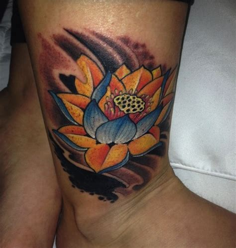 lotus tattoo colour 155 lotus flower tattoo designs