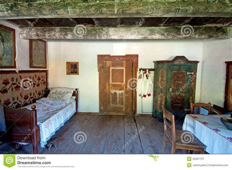 home inside design warszawa old wooden house interior royalty free stock photography