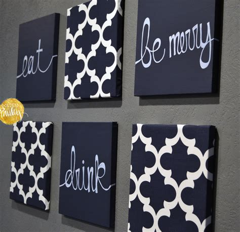 Navy Wall Decor by Navy Blue Wall Set