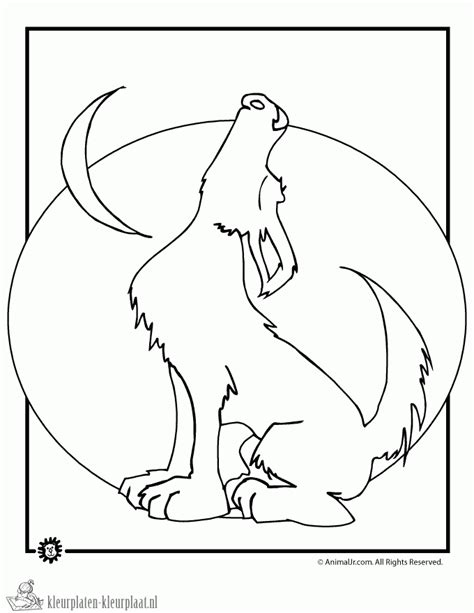 Howling Wolf Coloring Pages free wolf howling coloring pages