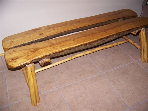 custom made bench custom made log bench by phil s woodwork custommade com