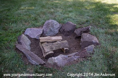 diy pit cheap and easy cheap easy pit from some stones and a shovel