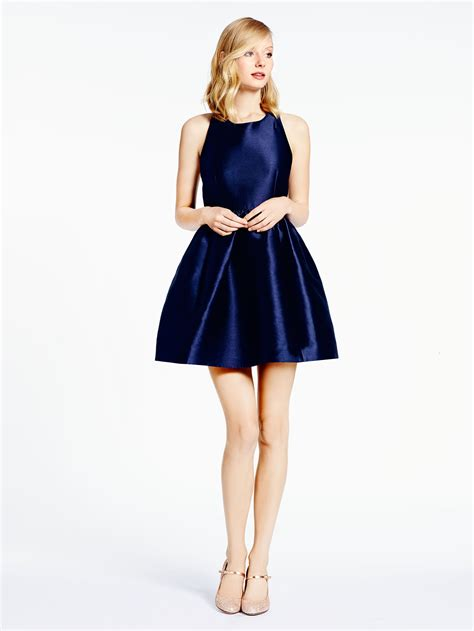 Katee Spadee kate spade bow back fit and flare dress in blue rich navy