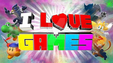 wallpaper i love game i love games wallpaper by actyl0 on deviantart