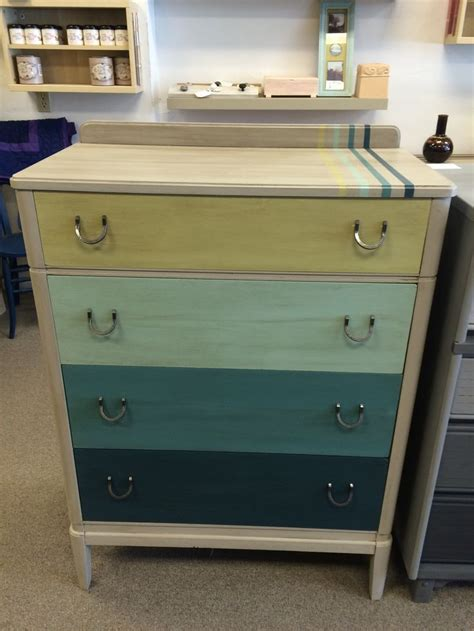 50 s dresser updated with chalk paint in shades of teal and wasabi wax and refreshed