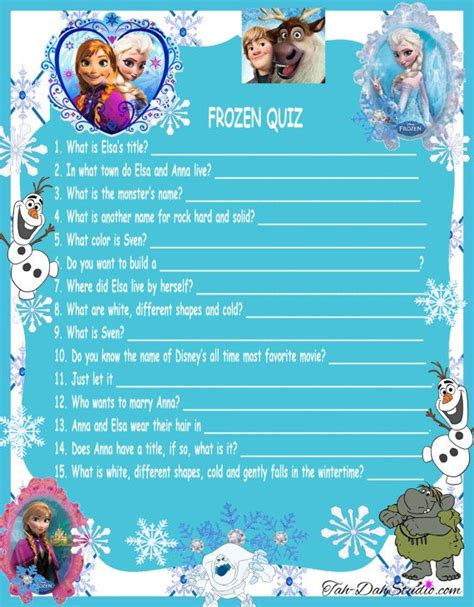 disney themes quiz new disney frozen movie quiz game birthday party quick