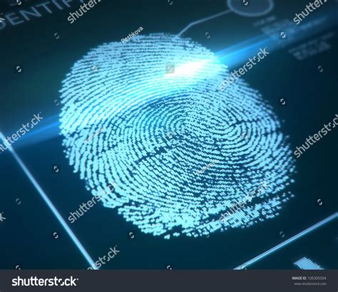 Where Can I Get Fingerprinted For A Background Check Fingerprint Identification On A Blue Background Stock Photo 105305504