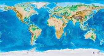World Wall Map Mural global topography amp bathymetry world wall mural