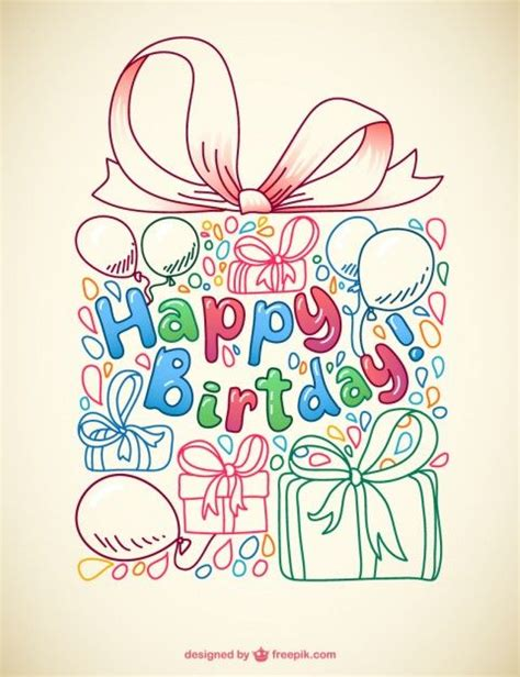 free vector birthday doodle 17 best images about happy birthday presents happy