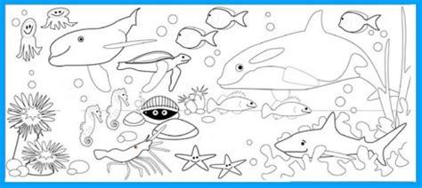 gambar mewarnai hewan laut gambar mewarnai