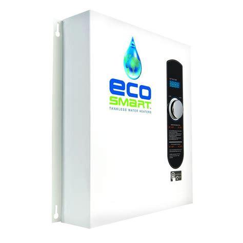 tankless water heaters ecosmart 27 kw self modulating 5 3 gpm electric tankless water heater shop your way