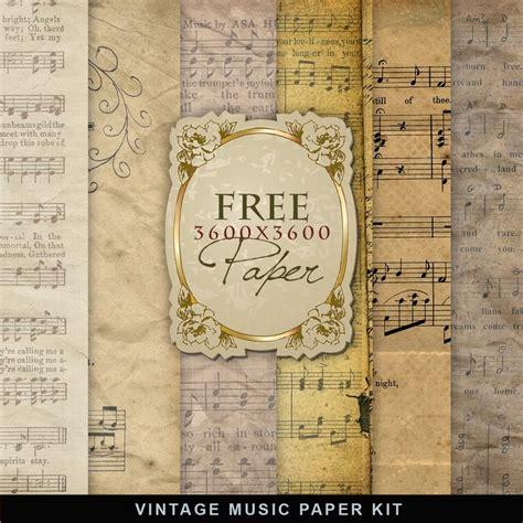 Free Craft Paper Downloads - vintage sheet printable printable decor