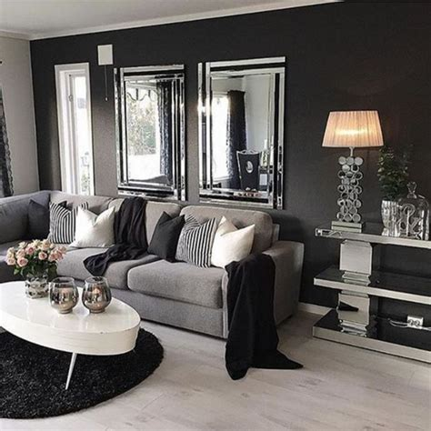 black white and gray home decor living room grey living room ideas dark grey sofa living