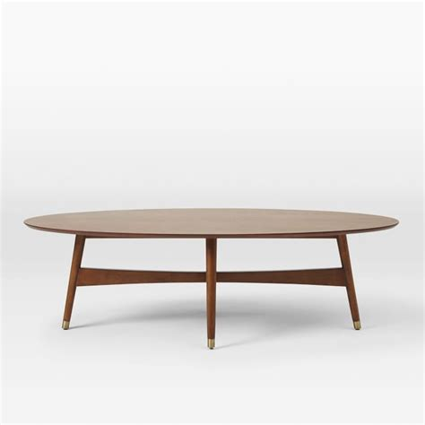 Oval Modern Coffee Table Mid Century Modern Coffee Table Pertaining To Reeve Oval Pecan West Elm Prepare Best Tables
