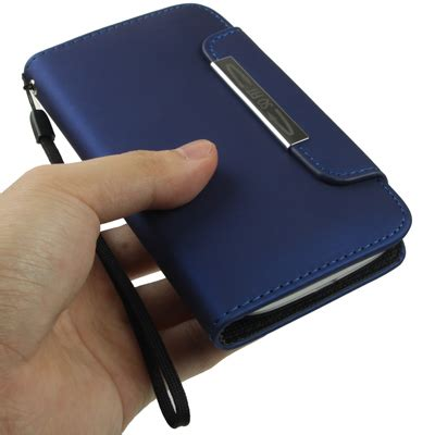 portable wallet leather with holder lanyard for samsung galaxy siii i9300 blue