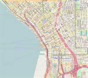 Street Map Of Seattle by File Seattle Wa Downtown Openstreetmap Png