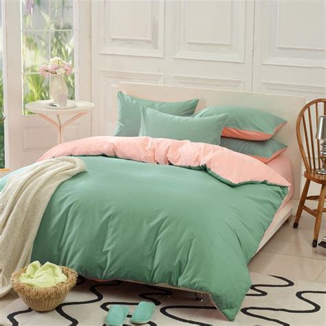 king size comfort set custom solid color bedding set green 50 silk satin