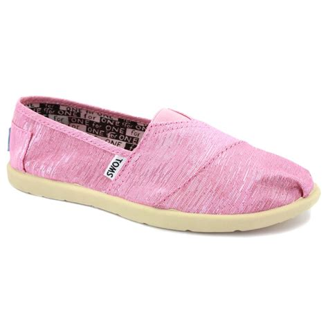 toms 91c10 sparkles textile slip on shoes pink