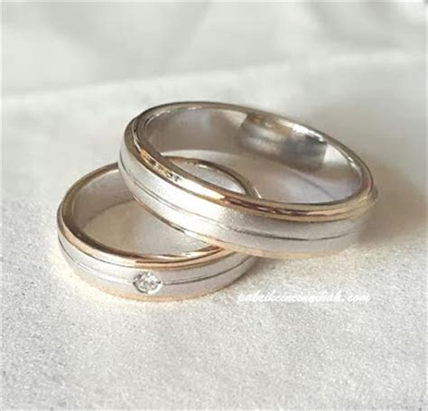 Cincin Kawin Nikah Tunangan Palladium 50 cincin nikah