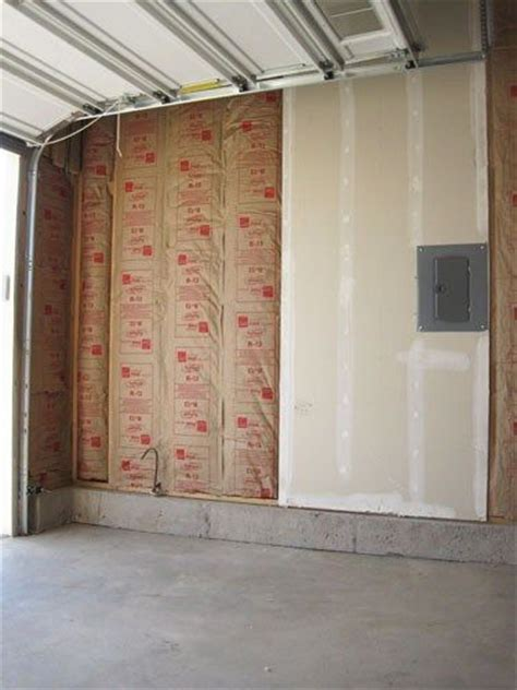 lining garage walls