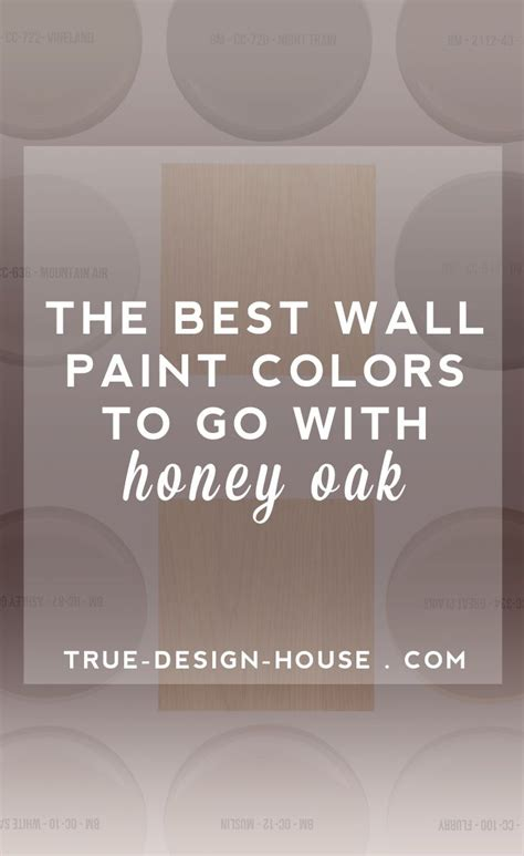 the best wall paint colors to go with honey oak colors