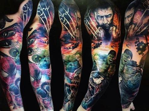 batman gauntlet tattoo marvel inspired ink tattoos influenced by designs within