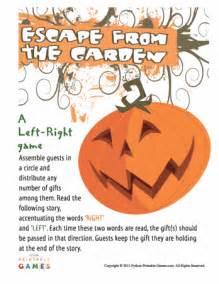halloween left right game printable games