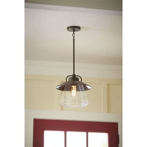 shop allen roth bristow 36 in w 3 light mission bronze shop allen roth bristow 12 in w mission bronze pendant