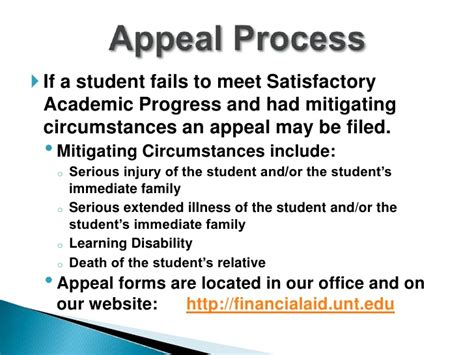 Financial Aid Appeal Letter For Satisfactory Academic Progress Satisfactory Academic Progress Presentation Fall 2011