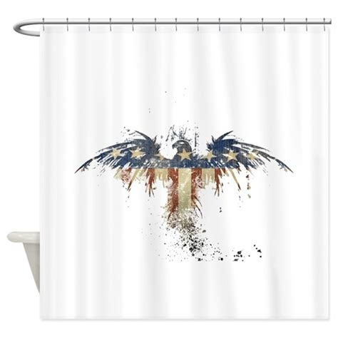 americana shower curtain americana eagle shower curtain by jtporter