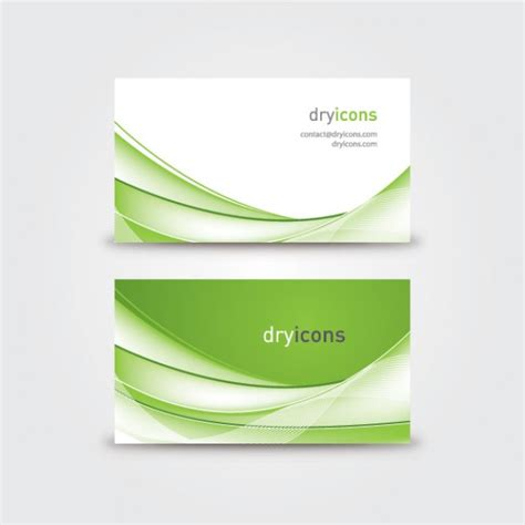 wavy business card vector free