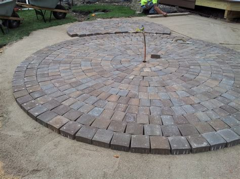 Circular Patio Designs Circular Paver Patio Modern Patio Minneapolis By Barrett Lawn Care